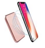 10W Draadloze Oplader met Spiegeloppervlak - Roze