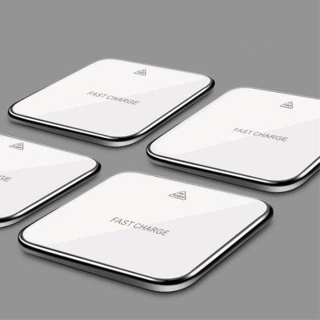 10W Draadloze Oplader met Spiegeloppervlak - Wit