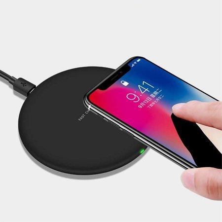 Ultra-slimme Draadloze Oplader met Mat Oppervlak - Zwart