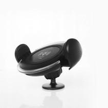 Draadloze Bureau / Auto Oplader met Zuignap - Zwart