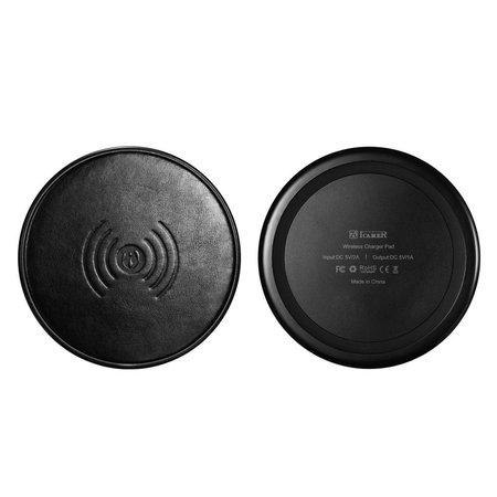 ICARER ICARER Genuine Lederen Qi Draadloze Oplader Pad (Fast Charging) - Zwart
