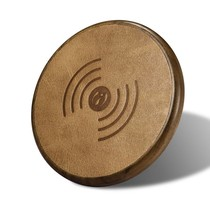 Houten Qi Draadloze Oplader Pad (Fast Charging) - Donkerbruin