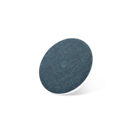 XOOMZ XOOMZ Zijde Textuur Draadloze Qi Snelle Oplader - Blauw