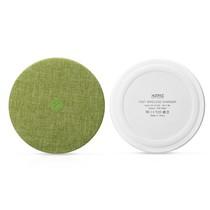 Zijde Textuur Draadloze Qi Snelle Oplader - Groen