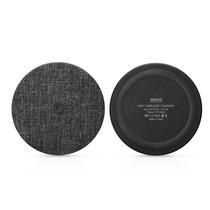 Zijde Textuur Draadloze Qi Snelle Oplader - Zwart