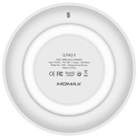 MOMAX MOMAX Q.Pad X 9V QC3.0 Qi Snelle Draadloze Oplader - Wit