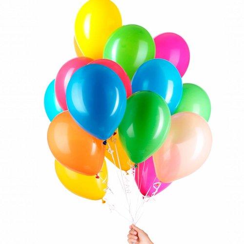 Ballonnen leeg op kleur