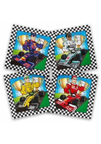 Formule 1 servetten 33x33cm - 20 stuks