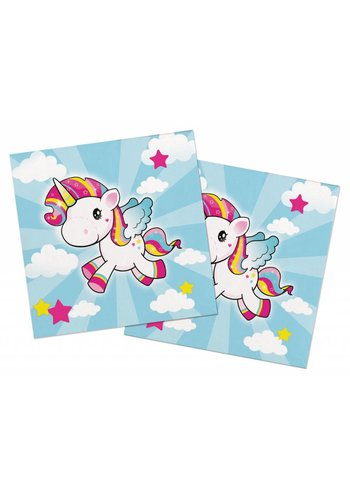 Unicorn servetten 33x33cm - 20 stuks
