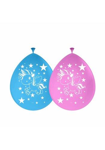Unicorn ballonnen - 8 stuks