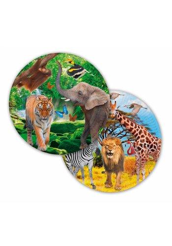 Jungle bordjes 23cm - 8 stuks