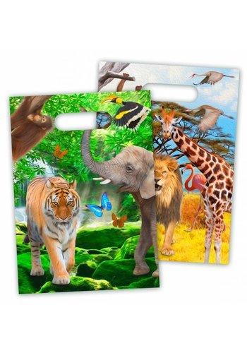 Jungle uitdeelzakjes - 8 stuks