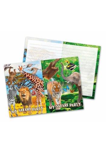 Jungle uitnodigingen - 8 stuks