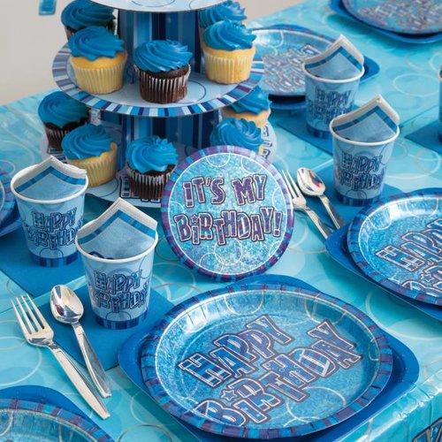 Happy Birthday Glitz blauw