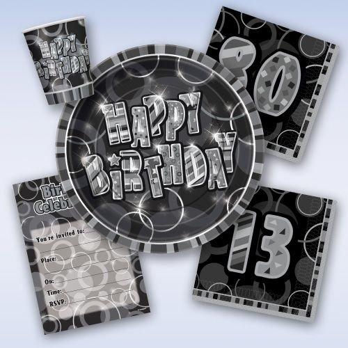 Happy Birthday Glitz zwart