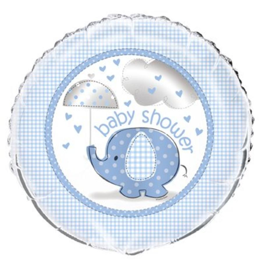 Babyshower olifantje boy folieballon-1