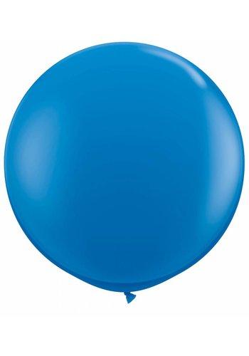 Mega Ballon Donker Blauw - 90cm - 1 stuk