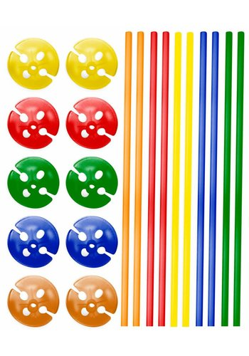 Ballonnen stokjes - 40cm - 10 stuks