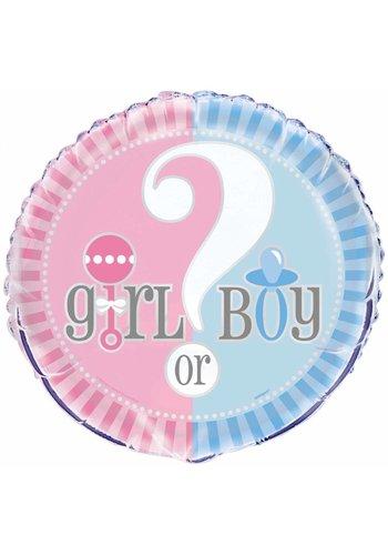 Gender Reveal folieballon 45 cm