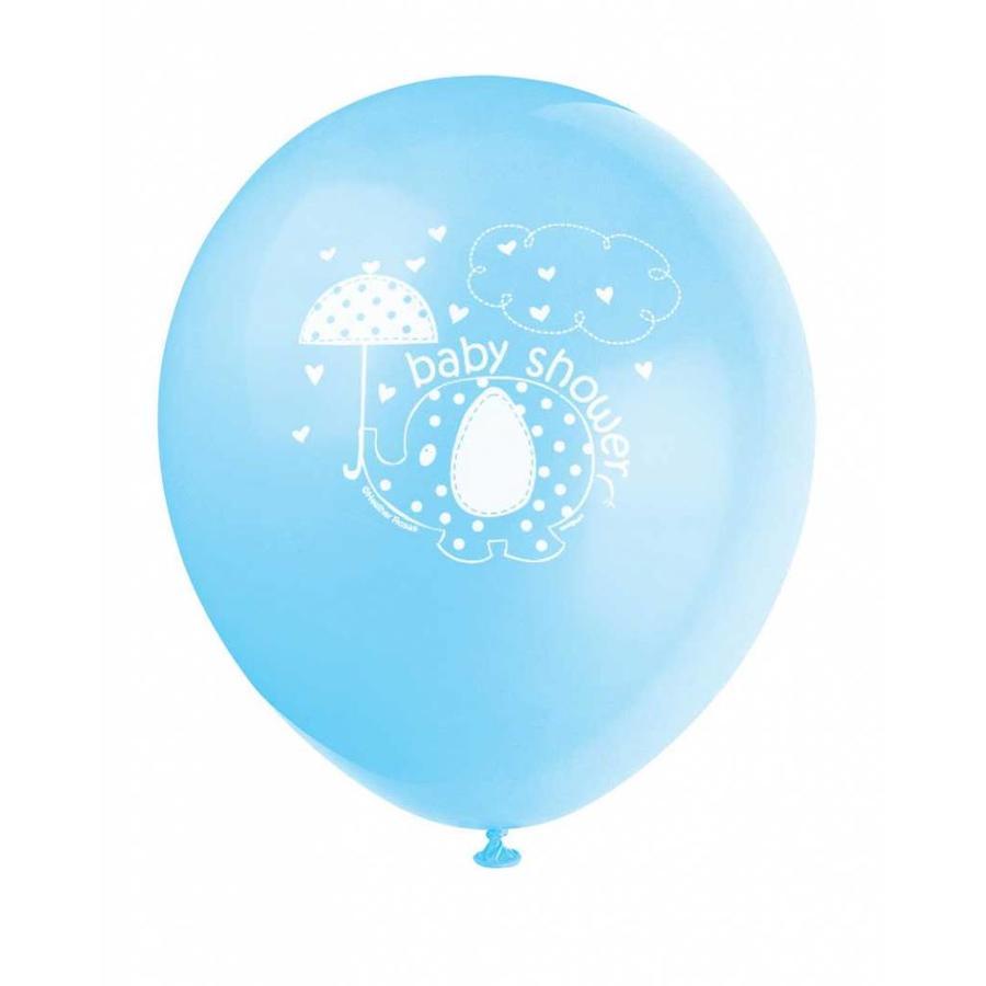 Babyshower olifantje boy ballonnen - 8 stuks-1