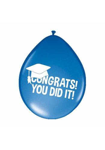 "Ballonnen ""Congrats You Did It"" - 8 stuks"