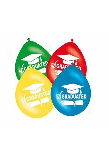"""Ballonnen """"Graduated"""" -  8 stuks"""