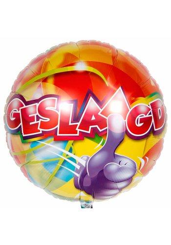 "Folieballon ""Geslaagd"" - 45cm"