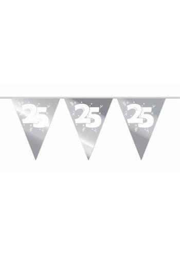 Vlaggenlijn Zilver 25 - 10 meter