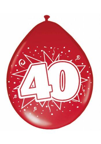 Ballonnen Robijn 40 - 8 stuks