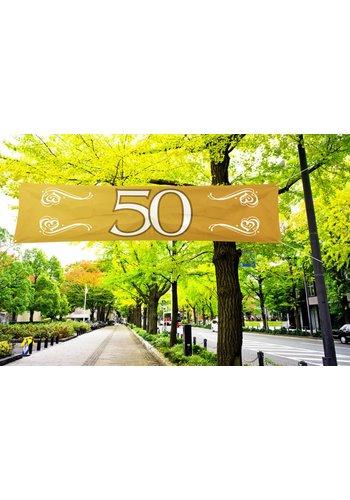 Spandoek Goud 50 - 180 cm