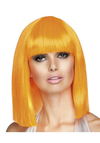 Pruik Dance - Neon Oranje