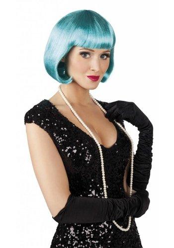Pruik Cabaret - Turquoise