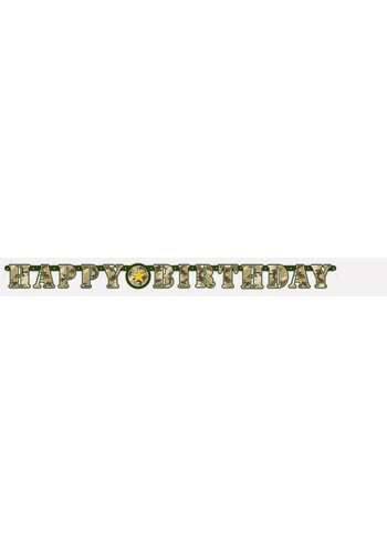 Camouflage letterbanner - 160cm