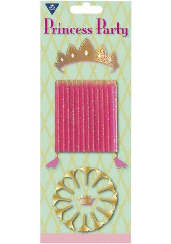 Prinsessen kaarsjes - 12 stuks