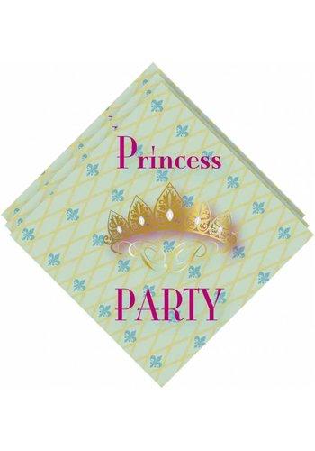 Prinsessen servetten 33x33cm - 20 stuks