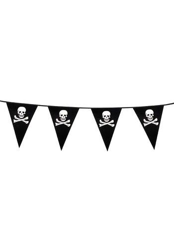 Piraten vlaggenlijn - 6 meter