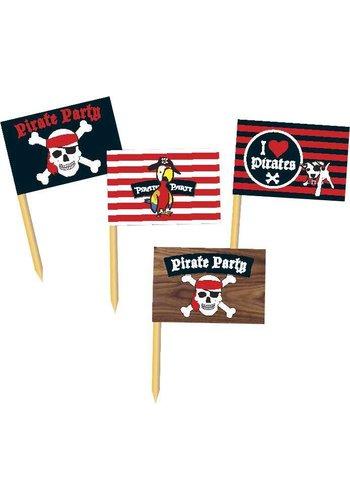 Piraten vlaggetjes - 36 stuks