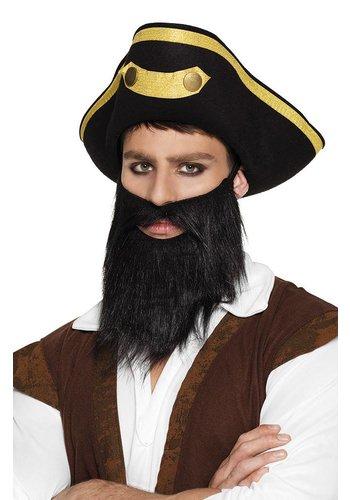 Piraat Baard zwart