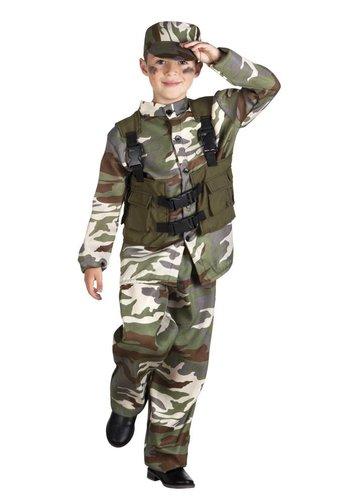 Junior Soldaat kostuum 4 Delig
