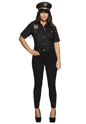 Politie Shirt Dame - incl Cap