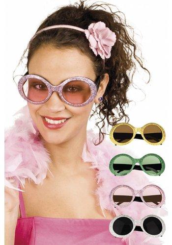 Bril Jackie Glitter - 4 kleuren