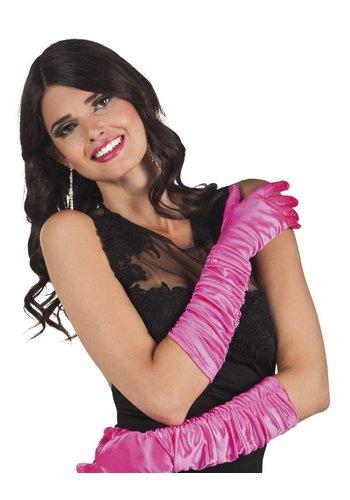 Handschoenen elleboog Hollywood - Hot Pink
