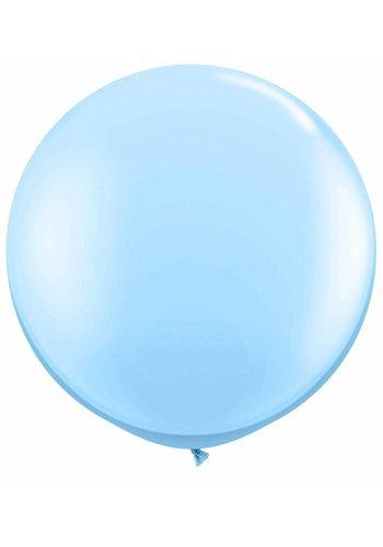 Mega Ballon Licht Blauw - 90cm - 1 stuk
