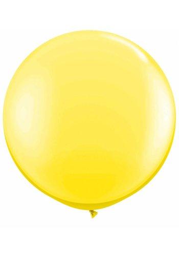 Mega Ballon Geel - 90cm - 1 stuk