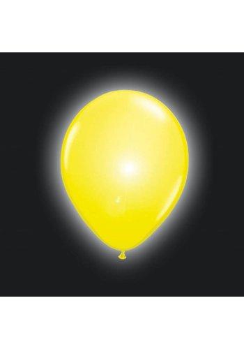 LED Ballonnen Geel - 20cm - 5 stuks