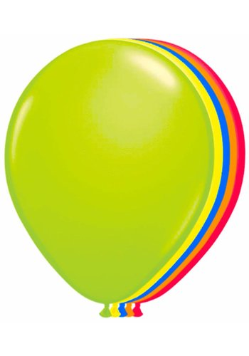 Neon Ballonnen Assortiment - 25cm - 8 stuks