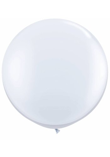 Mega Ballon Wit - 90cm - 1 stuk