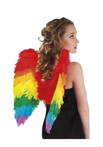 Veren Vleugels Regenboog - 50x50cm