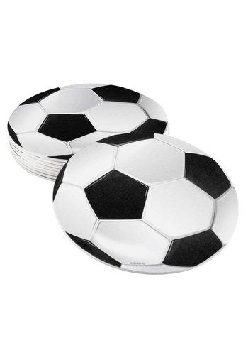 Voetbal Onderzetters - 6 stuks - 10cm