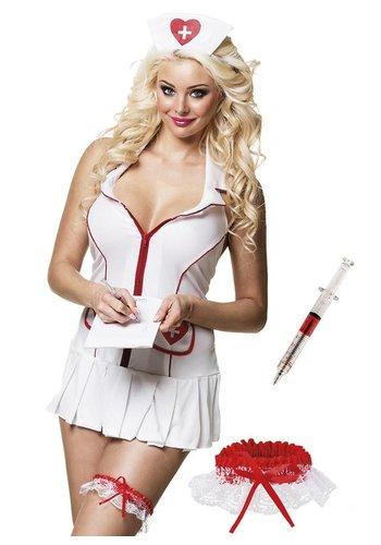 Verpleegsters Kousenband met injectiespuit